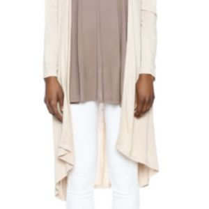 Bobeau Tan Lightweight OpenFront Duster Cardigan S
